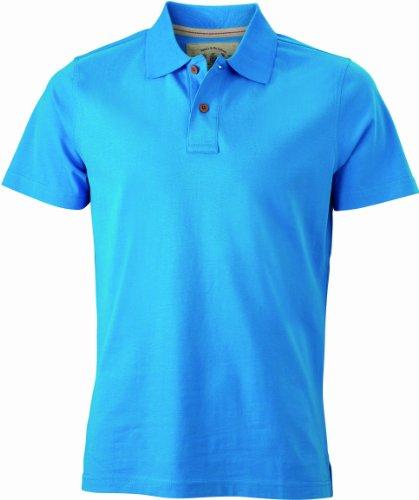 James & Nicholson Herren Poloshirt Polo Men's Vintage türkis (turquoise) XX-Large