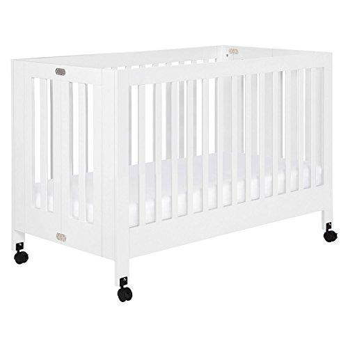 Babyletto Maki Full-Size Folding Crib, White