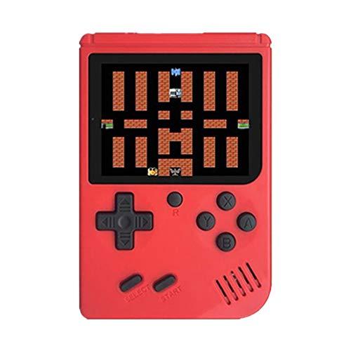 CHENC Handheld Console De Jeux, Retro Mini Game Player avec 3,0 Pouces Écran Couleur Et 128 Classique Jeux FC Soutien pour La Connexion TV pour Enfants Et Adultes,Rouge