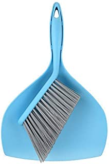 Mini Dustpan and Brush Set - Etable Stylish Sweeping Equipment with Ergonomic Handle for Easy Sofa, Desk, Car Trunk & Seats, Pet House Cleaning - Durable Non-Scratch Angled Bristles for Corners(Blue)