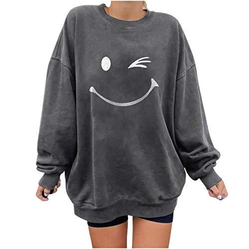 """Sasaquoy lange ã""""rmel pullover damen winter pullover mit rundhalsausschnitt, vintage sweatshirt oversized cartoons pullover teenager mã¤dchen sportbekleidung sweatshirt for women"""