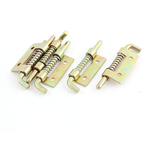 sourcingmap® 5 Stück Metallschloss beladen Fass Schraube Federverriegelung 55mm 2.2