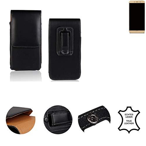 K-S-Trade® Holster Gürtel Tasche Für Allview X4 Soul Lite Handy Hülle Leder Schwarz, 1x