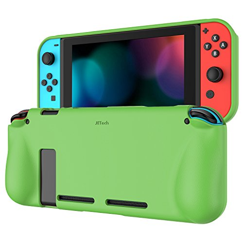 JETech Protective Case for Nintendo Switch 2017, Grip Cover with Shock-Absorption and Anti-Scratch Design (Green)