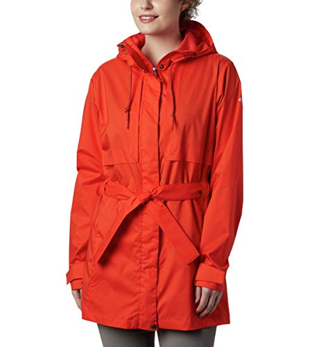 Columbia Women's Pardon My Trench Rain Jacket, Water and Stain Repellent