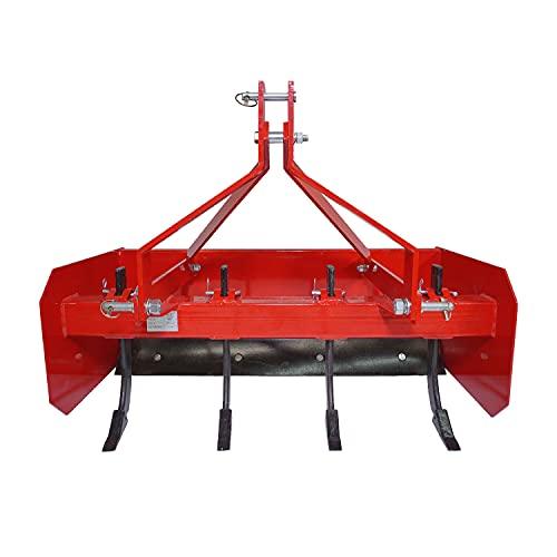 Titan Attachments Box Blade Tractor Attachment 4' Quick Hitch 3 Point Pin Style