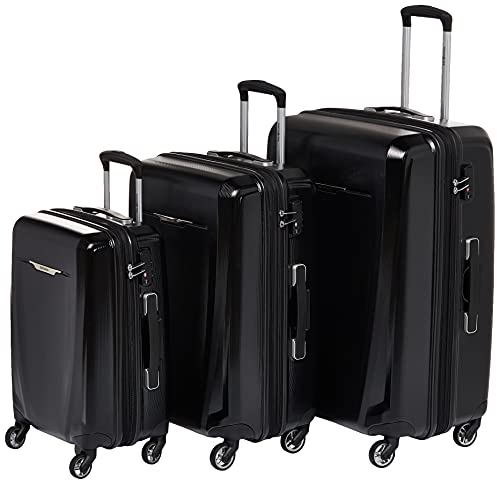Samsonite Winfield 3 DLX Hardside Expandable Luggage with Spinners, Black, Carry-On 20-Inch