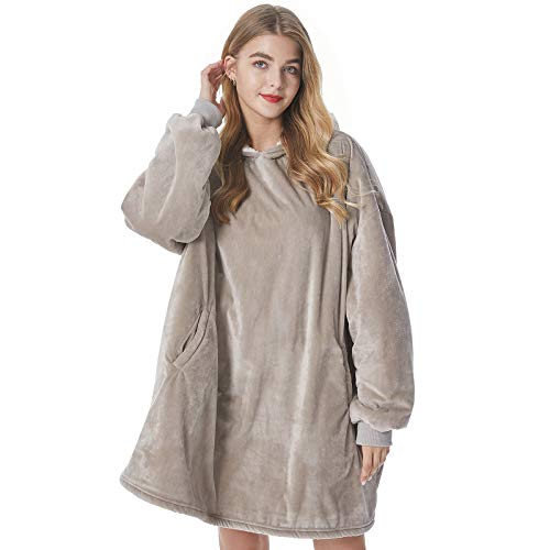 Felicigeely Blanket Sweatshirt,Oversized Fleecehug Hoodie Wearable Blanket,Soft Warm Comfortable Giant Front Pocket for Adults Men Women Teens Friends