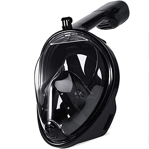 NZQK 2021 Última máscara de esnórquel plegable 180 ° Panoramic Free Breathing Máscara de esnórquel de cara completa con soporte de cámara desmontable, Dry Top Suit Anti-fog L/XL