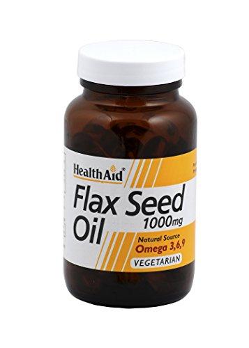 Health Aid Flaxseed Oil 1000mg , 60 Capsules