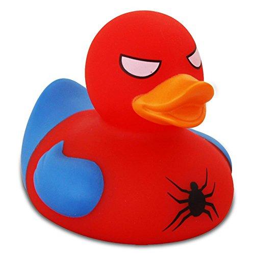Lilalu Badeente Gummiente Schwimmente Sammeln Ente Halloween Superheld Krone: Art: Spidy Ente