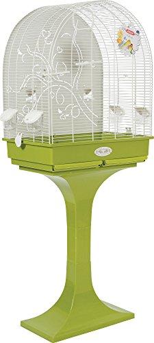 Zolux Anna auf Fuß Käfig mit Boden aus Metall für Vogel exotischen/Wellensittich Taupe 68,5x 36x 135cm