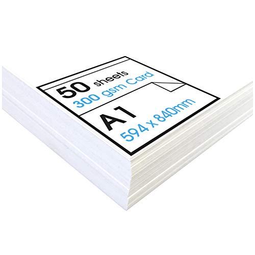 Artway Studio - Fotokarton - ideal für Präsentationen, zum Aufstellen und zum Basteln - reinweiß - 300 g/m² - A1-50Blatt