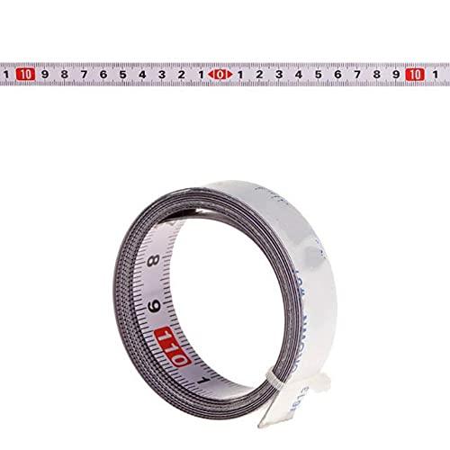 Sierra de inglete Cinta métrica Orbital Respaldo Autoadhesivo Regla de Acero métrico 1/2/3 / 5M - M-1m