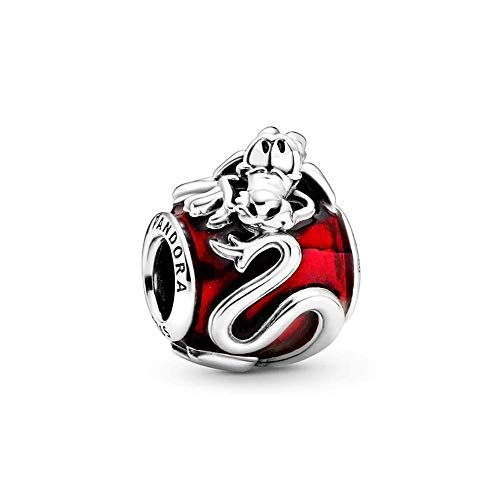 Pandora Disney Mulan Mushu Charm, 1,3cm, Rot