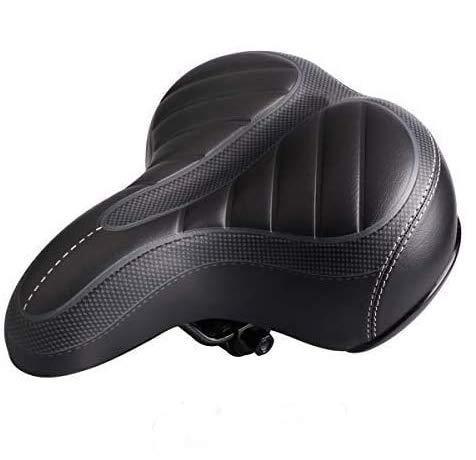 LASUAVY Ergonomischer Fahrradsattel, Fahrradsitz mit stoßfestem Feder- und Stanzschaumsystem, Radfahren MTB Sattelkissen Pad für Cruiser/Rennrad/Touren/Mountainbike, L 9,84