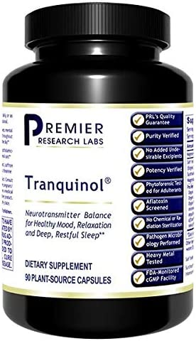 Premier Research Tranquinol Dietary Supplement 90 Plant Source Capsules Neurotransmitter Balance product image