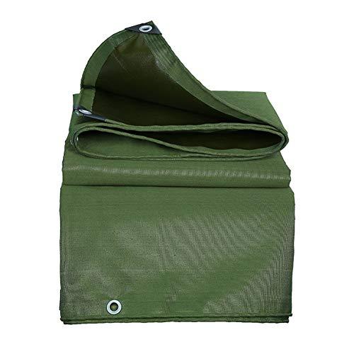 Bâches imperméables Robustes, bâche épaissie/Polyvalente de 0,65 mm, bâche d'extérieur avec œillets, Vert (Size : 5m×6m)