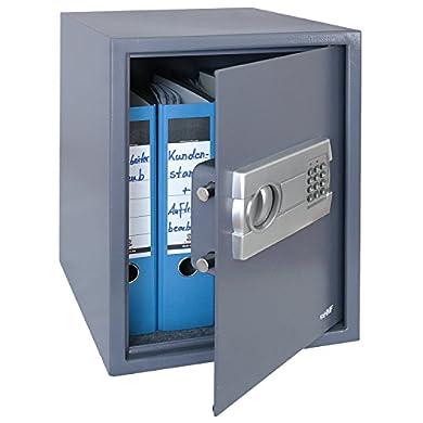 Foto di HMF 4612812 Cassaforte Mobile, Tresoro con Serratura Elettronica, Armadi di Sicurezza, Raccoglitore A4, 48 x 36 x 37 cm, antracite