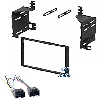 ASC Audio Car Stereo Radio Install Dash Kit and Wire Harness for Installing an Aftermarket Double Din Radio for 2007 2008 2009 Kia Sorento