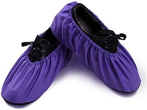 GDYJP Cubiertas de Zapatos de 5 Pares, sobrepas Reutilizables para el Lugar de Trabajo Interior del hogar Adecuado para Adultos (Color : C, Tamaño : XL)