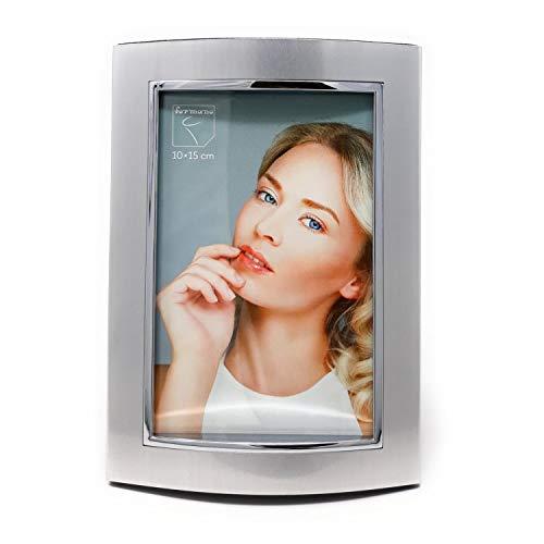 formano Bilderrahmen Fotorahmen Style für 10x15cm Silber matt + glänzend Metall