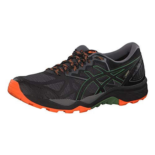 ASICS Mens Traillaufschuh Gel-Fujitrabuco 6 G-TX Running Shoes, Grau Carbon Black 020, 44.5 EU