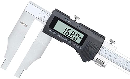 YDSHOLL LCD Digital Display Internal Groove Vernier Caliper with Large Range 0-500mm Can Transmit Data Caliper Micrometer Inner Groove Measuring Tool