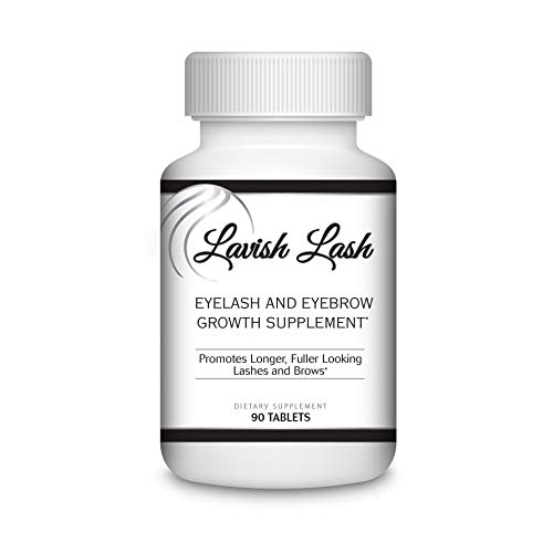 Hairgenics Lavish Lash Eyelash and Eyebrow Growth Supplement with Biotin for Longer, Thicker Lashes and Brows. 90 Tablets.