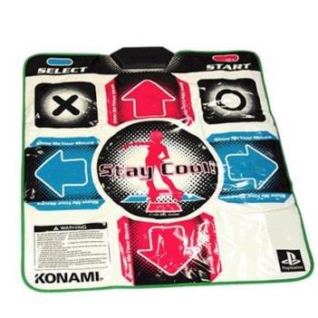 Konami Dance Dance Revolution Original Dance Pad für PS/PS2, Rutschfeste Gummiunterseite