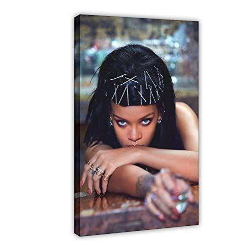 Póster de Rihanna Barbados - Rihanna Greatest Hits - Póster de cantante 5 - Cuadro para decoración de pared - Cuadro de decoración de dormitorio - 50 x 75 cm