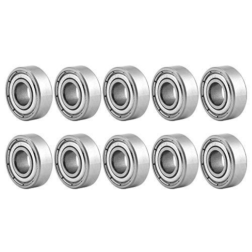 10 stücke 696ZZ Kugellager doppelt geschirmt Stahl Mini Rillenkugellager 6 * 15 * 5 mm