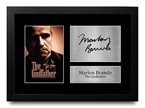 HWC Trading FR Marlon Brando Gift Handtekeningen Ontworpen Printed A4 Godfather Gifts Print Picture Beeldscherm