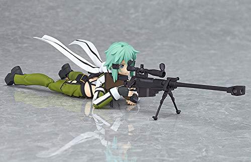 CUUGF Anime Sword Art Online Figure Brinquedos Figma 241 Sinon Asada 2th Sao PVC 14CM Action Figure Juguetes Giocattoli da Collezione Modello con Accessori e Giunti mobili Versione Premium