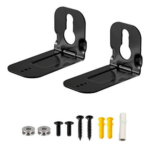 Wall Mount Bracket for Samsung Soundbar N950 MS750 MS751 HW-MS650 HWMS650, 2 Pieces Black Sound Bar Wall Bracket with Wall Mounting Hardware Kit and User Instruction
