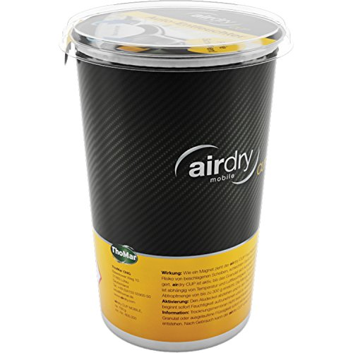 Thomar 605000 airDry Cup Luft-Entfeuchter Cup Mobile, für PKW-Getränkehalter, ohne Duft