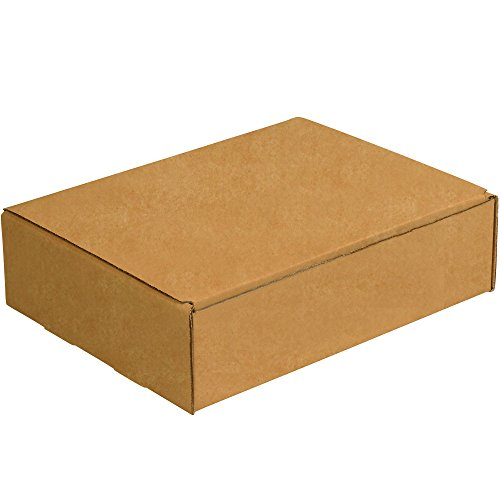 Aviditi Brown Kraft Literature Mailing Boxes, 11 1/8 x 8 3/4 x 3 Inches, Pack of 50, Crush-Proof, for Shipping, Mailing and Storing