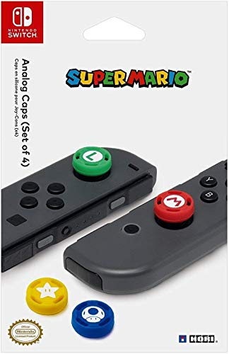 Super Mario Analog Caps, Nintendo Switch - Accesorios y piezas de videoconsolas (Nintendo Switch, Nintendo Switch, Azul, Verde, Rojo, Amarillo, Nintendo Switch)
