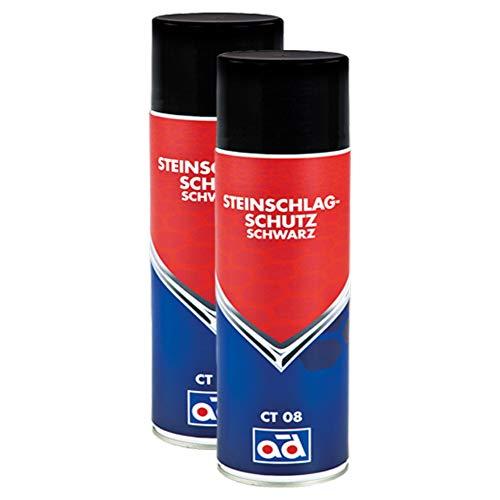 AD Chemie 2X Steinschlagschutz Ct 08 500ml Spraydose Spray Sprühdose Schutz Steinschlag Spray Karosserie Heckschürzen Dickflüssiges 409190940