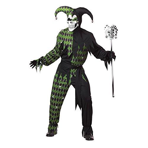 Generique - Déguisement dArlequin diabolique Vert Homme Halloween XL