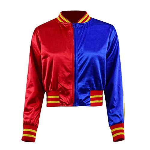 Harley Quinn Nachtclub Cosplay T-Shirt Jacke Shorts kompletter Satz für Frauen (XS, Jacke)