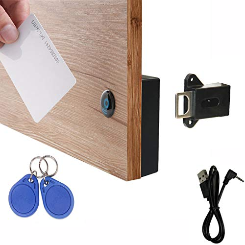 WOOCH RFID Locks for Cabinets Hidden DIY Lock - Electronic Cabinet Lock with USB Cable, RFID Card/Tag/Wristband Entry