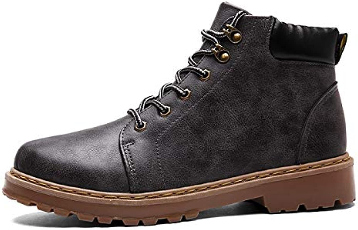 FHCGMX Genuine Leather Martin Boots For Men Male shoes Adult Spring Autumn Ankle Boots Comfort Lace-up Footwear