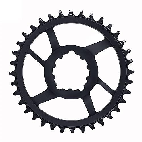 MHUI Carrito para 8 9 10 11 Velocidad Monte Directo Elíptica/Redonda Drop-Stop Chainring 32T 34T 36T 38T Lecho Estrecho Bicicleta en la Bicicleta,36T