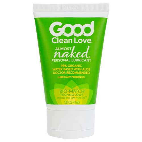 Good Clean Love Almost Naked Personal Lubricant, Organic Water-Based Lube with Aloe Vera, Safe for...