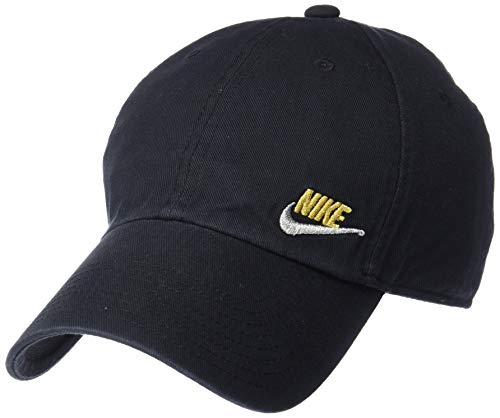 Nike Damen W NSW H86 Cap Futura Classic Kappe, Schwarz/Metallic Silver, Einheitsgröße