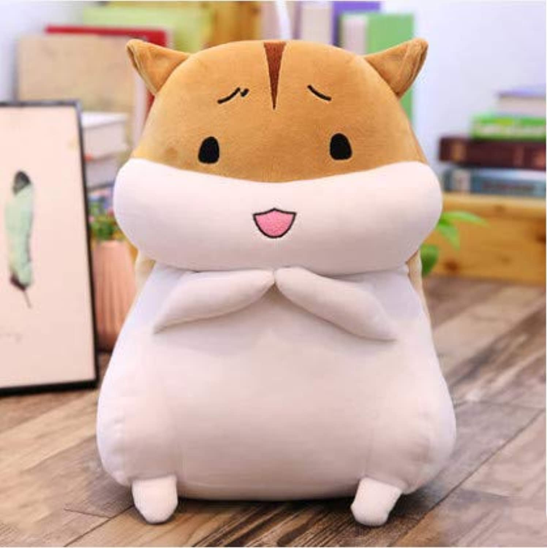 XXCKA Happy Brown Hamster Insert Doll Doll Doll Plüschtier Nettes Kissen Geburtstagsgeschenk Box 60Cm
