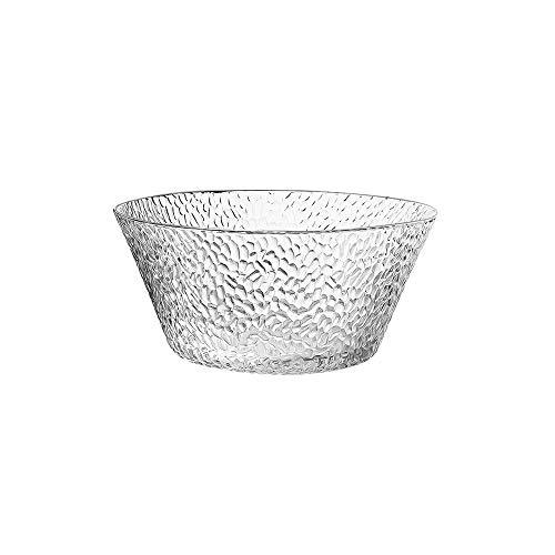 ZZYJYALG cuenco Estilo nórdico duradero recipientes de vidrio, la gota de agua en forma de cereal de desayuno recipientes de vidrio, comidas de preparación Contenedores, Lugar Contenedores, ensalada C