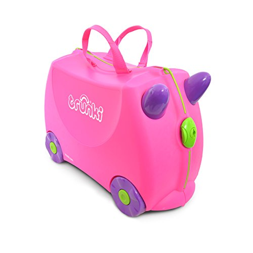 Award Winning Pink Ride On Luggage For Toddlers Holds Seventy-Five Pounds