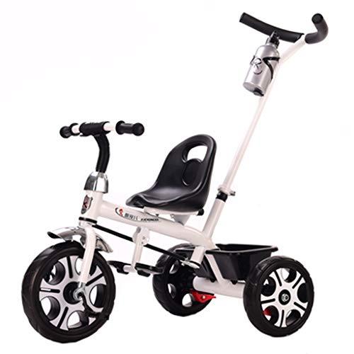 Carrito De Bebé Triciclo for Niños De 1-3-6 Años Bicicleta Infantil Cochecito De Juguete Saliente Lo Mejor for Un Regalo (Color : White)